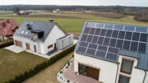 Instalacja fotowoltaiczna 15,47 kWp widok z góry