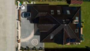 Instalacja fotowoltaiczna 4,5 kWp Wejherowo widok z góry