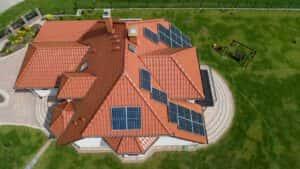Instalacja fotowoltaiczna 6,5 kWp Gdańsk widok z góry