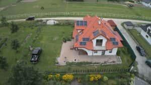 Instalacja fotowoltaiczna 6.03 kWp Serock widok z góry