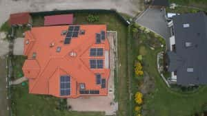 nstalacja fotowoltaiczna 6.03 kWp Serock widok z góry