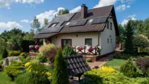 Instalacja fotowoltaiczna 7 kWp Leśniewo widok od frontu