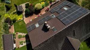 Instalacja fotowoltaiczna 7 kWp Leśniewo widok z góry