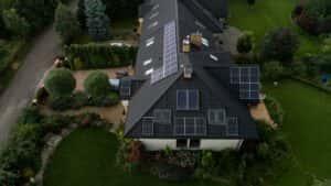 Instalacja fotowoltaiczna 7,9 kWp Wiązowna widok z boku