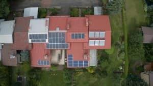 Instalacja fotowoltaiczna 9.9 kWp widok góry
