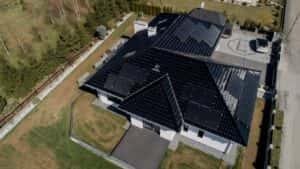 Instalacja fotowoltaiczna 10.8 kWp widok z góry