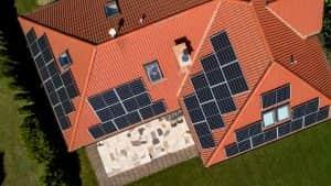 Instalacja fotowoltaiczna 9.6 kWp widok z góry