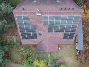 Instalacja fotowoltaiczna 7.04 kWp widok z góry