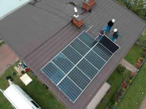 Instalacja fotowoltaiczna 3.96 kWp widok z góry