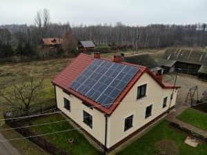 Instalacja fotowoltaiczna 6.8 kWp widok z boku
