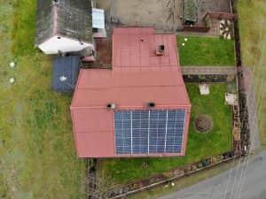 Instalacja fotowoltaiczna 6.8 kWp widok z góry