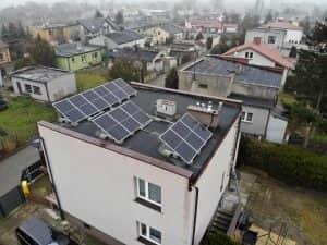 Instalacja fotowoltaiczna 4.08 kWp widok z boku