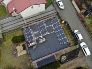 Instalacja fotowoltaiczna 4.08 kWp widok z góry