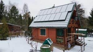 Instalacja fotowoltaiczna 5.1 kWp śnieg