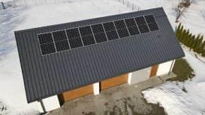 Instalacja fotowoltaiczna 3.4 kWp widok z góry