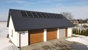 Instalacja fotowoltaiczna 3.4 kWp widok z frontu