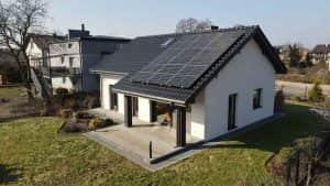 Instalacja fotowoltaiczna 6.6 kWp widok z boku