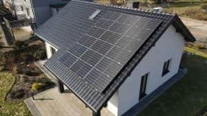 Instalacja fotowoltaiczna 6.6 kWp widok z góry