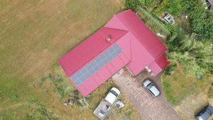 Instalacja fotowoltaiczna 4.56 kWp Witaszyce widok z góry