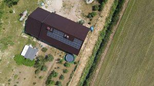 Instalacja fotowoltaiczna 7.4 kWp Mętlew widok z góry